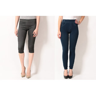 TSG BREEZE TREAT PACK OF 2 SEAMLESS JEGGINGS COMBO 3