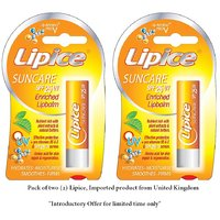 Pack Of 2 Lipice SunCARE Lip Balm, Imported Brand United Kingdom, Now In India