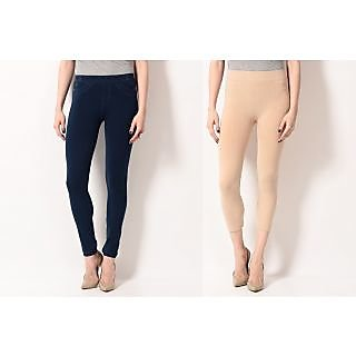 TSG BREEZE TREAT PACK OF 2 SEAMLESS JEGGINGS COMBO 6