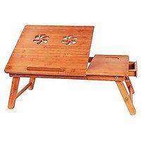 Woodkart Wooden Portable Multipurpose Laptop Table