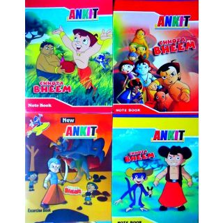 12, CHOTA BHEEM SMALL SIZE NOTEBOOKS ( 6 RULED & 6 UN RULED )