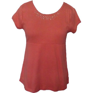 Justin Women's Casual Solid Tee's
