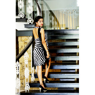 Zebra Print Silk Flap Dress