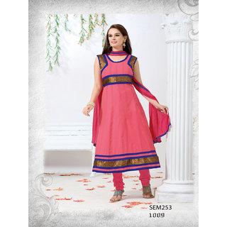 Evelyan Sharma New Designer Peach Long Anarkali Suit