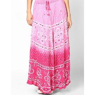 Rajasthani Sarees Classic Cotton Bandhej Hand Work Skirt