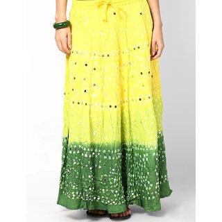 Rajasthani Sarees Nice Cotton Bandhej Hand Work Skirt
