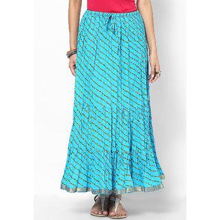 Rajasthani Sarees Classy Cotton Lehariya Printed Long Skirt