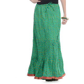 Rajasthani Sarees Voguish Cotton Lehariya Printed Long Skirt