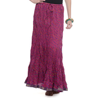 Rajasthani Sarees Voguish Cotton Jaipuri Printed Long Skirt