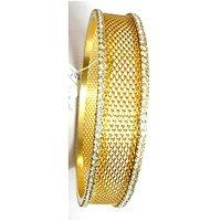 Gold Plated Kada Studded With American Diamonds (Size 2.8) - 1 Pc