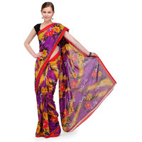 Shubham Purple Printed Georgette Saree(Design 8)