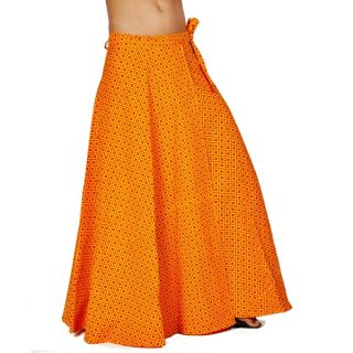 Ethnic Yellow Pure Cotton Wrap Around Skirt 296 [CLONE]