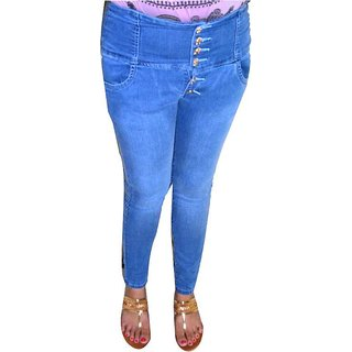 Jeans High Waist WITH BUTTON