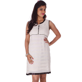 White & Black Polka Dot Dress
