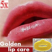 Golden Collagen Lip Gel Mask Anti-wrinkles Plump Moisturize LIPS MASK 5Pcs
