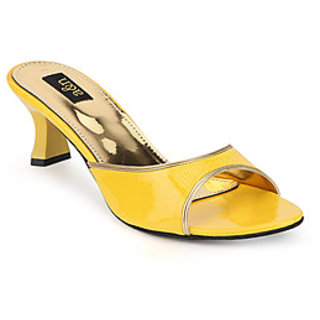 A&N Women's Yellow Heel Sandal