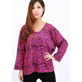 Systemic Long Sleeves T-shirt Printed. RED. Glitzy By Roohie