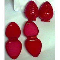 Velina Strawberry Shaped 2 In 1 Lip Balm Set Of 2 (13 Gm Each) Strawberry Flavor
