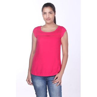 Cap Sleeve Top Pink