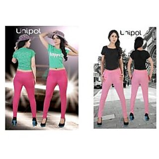 UNIPOL HI-FASHION JEGGINGS Combo2 Dark Pink/Light Pink