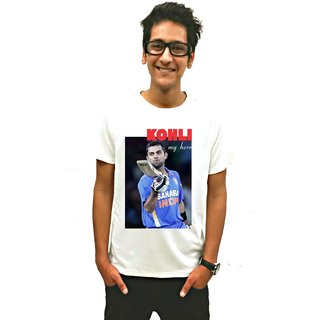 Virat Kohli My Hero T-Shirt White Men