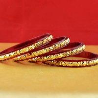 Rajasthani Gokharoo,kara Churi Meenakari,moti,cz,stone,bangles Size-2.4,2.6,2.8 - 531587