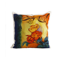 Rangrage - Floral Abstract - White - Cotton - Hand Painted Cushion Covers