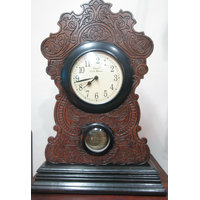 Wooden And Metal Table Clock