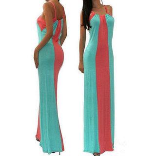 Rc Casual Stripes Long Dress