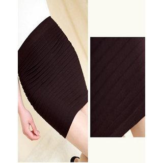 Rc Pleated Mini Pencil Skirt