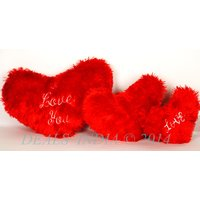 Soft Little Red Hearts Set Of Three