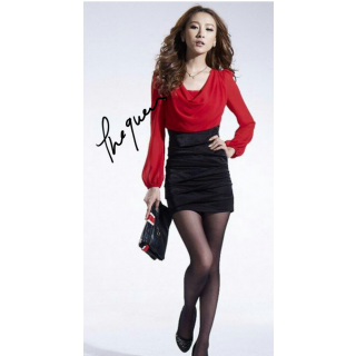 Red And Black Corporate Style Dress