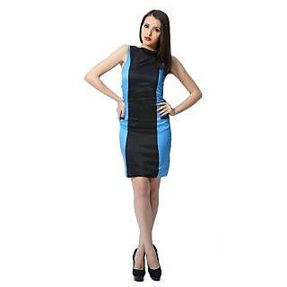 Trendy Divva T1034 Blue & Black Dress