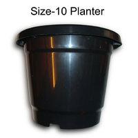 GARDENING PLANTER FLOWER POT HOME BALCONY GARDEN CONTAINER BLACK 10 INCH 8 QTY