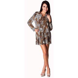 Trendy Divva Aw-498 Tiger Print Shirt