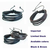 Imported Quality Leather Rope Bracelet For Men And Women