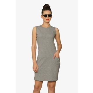 So Chic Midi Dress In Grey Multi-Color
