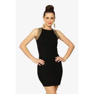 The Black Swan Midi Dress In Black