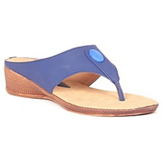 Pari Stylish Blue Women's Wedges