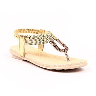 Pari Stylish Golden Women's Sandals