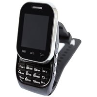 Black KenXinda W1  Watch Mobile FREE Bluetooth Headset  Dual SIM-black