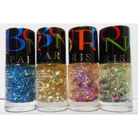 New Bonjour Paris Noveau Glitter Nail Polish (set Of 4)-Select Any One Set - 4693082