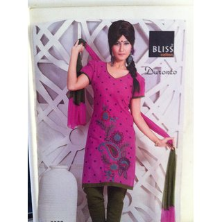 Cotton Thread Work Dress Material - 4757038