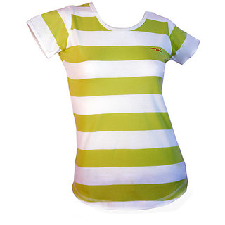 Integriti Galz Light Green With White Stripes T-shirt