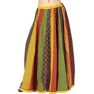Rajasthani Multicolor Flower Bootie Lehanga Skirt -181