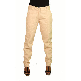 Ssysa Smart Women's Pink Twill Trousers