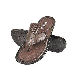 Crowcia Brown Casual Slippers - CR018SBRN
