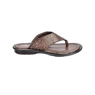 Crowcia Brown Casual Slippers - CR021SBRN
