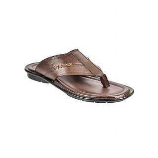 Crowcia Brown Casual Slippers - CR022SBRN
