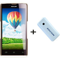 Combo Of Adcom A50 - White + APB 4400mAh Powerbank- White